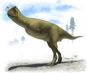 An illustration of Carnotaurus