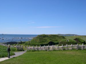 A reconstruction of what the Viking settlement at L'Ans Aux Meadows may have been like (By Dylan Kereluk from White Rock, Canada - Flickr, CC BY 2.0, https://commons.wikimedia.org/w/index.php?curid=351717).