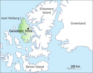 Map of the Canadian Arctic Islands