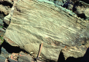 Trough crossbedding from a tidal channel; Paleoproterozoic, Belcher Islands, Hudson Bay