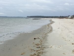 Shoreline of beach at Cape Charles, Virginia
