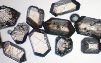 Photograph of crystals