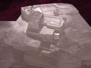 Crystals of halite showing cubic crystal habit