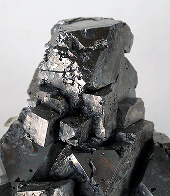 Cubic crystals of galena, a sulfide of lead