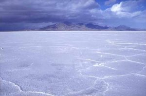 The Bonneville Salt Flats of Utah