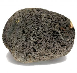A lava rock full of bubbles called scoria