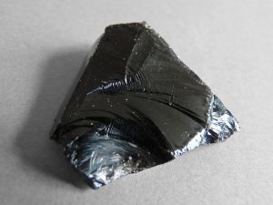 Photo of obsidian, a volcanic glass