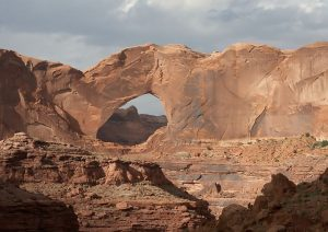 Stevens Arch in the Navajo Sandstone at Coyote Gulch some 125 miles away from Zion National Park
