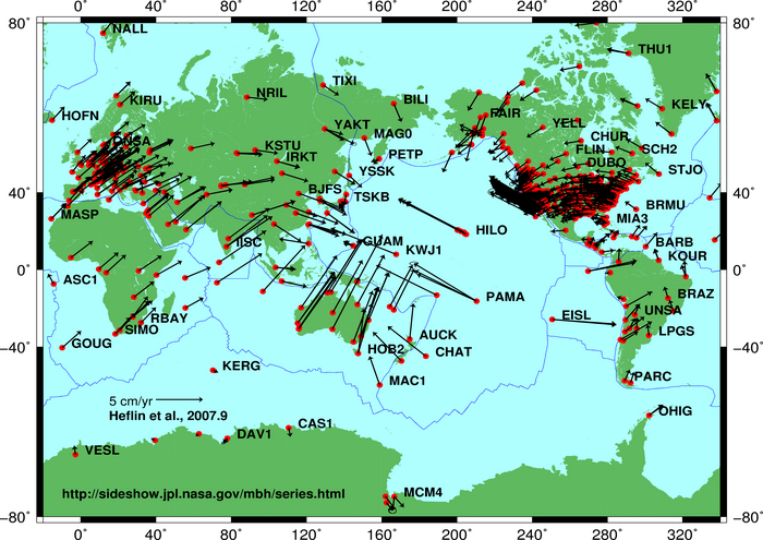 The map shows many data points all over the world.