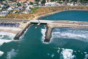 The two jetties led to a coastal waterway.