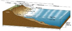The image shows the many complexities of the shoreline described in the text.