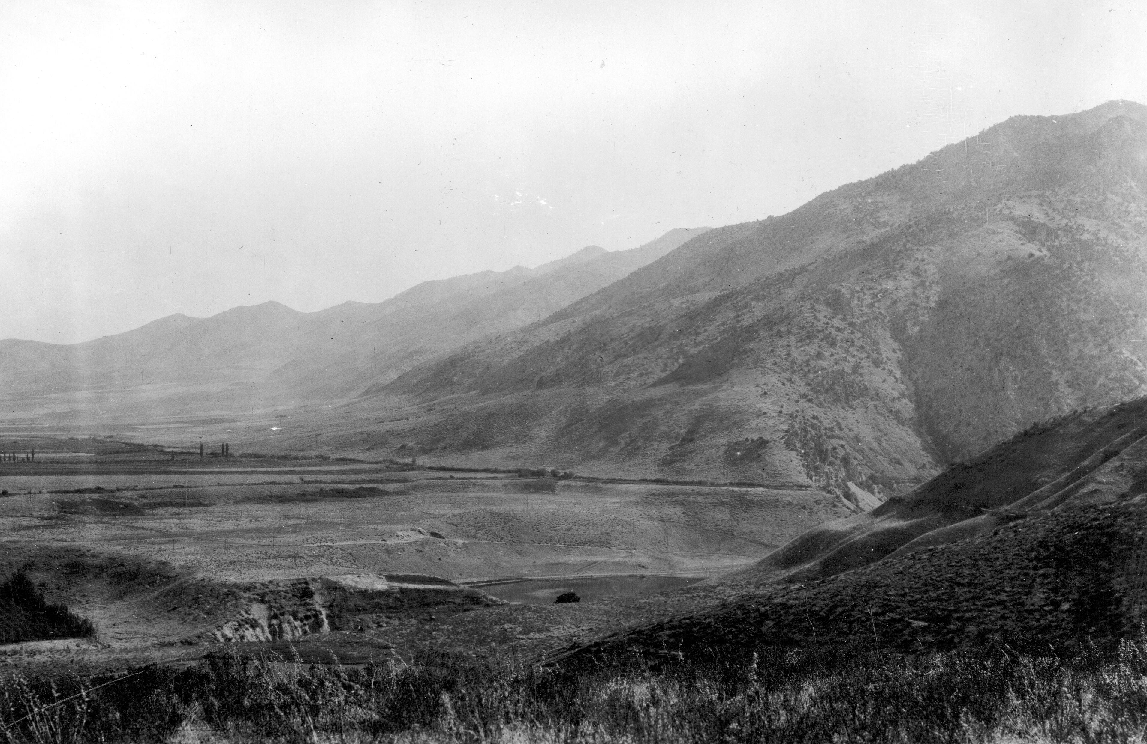 Deltaic deposits of Lake Bonneville near Logan, Utah.