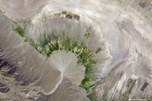 Satellite image of alluvial fan in Iraq.