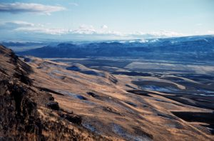 Channeled Scablands showing hhuge putholes and erided surface
