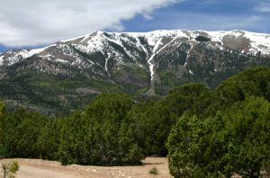 Henry Mountains, Utah, interpreted to be a laccolith.